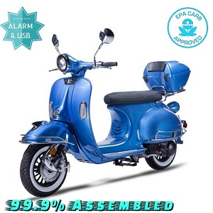 Amigo Bellagio 150 149cc Street Legal Scooter, 4 Stroke Air Cooled, Remote Start
