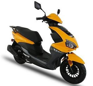 Amigo GTO-150cc Scooter, 4-Stroke Electric and Kick Start