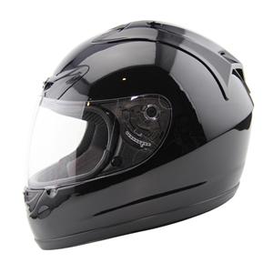 Amz Speeding Full Face Gloss Black Helmet