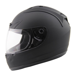 AMZ SPEEDING FULL FACE MATTE BLACK HELMET