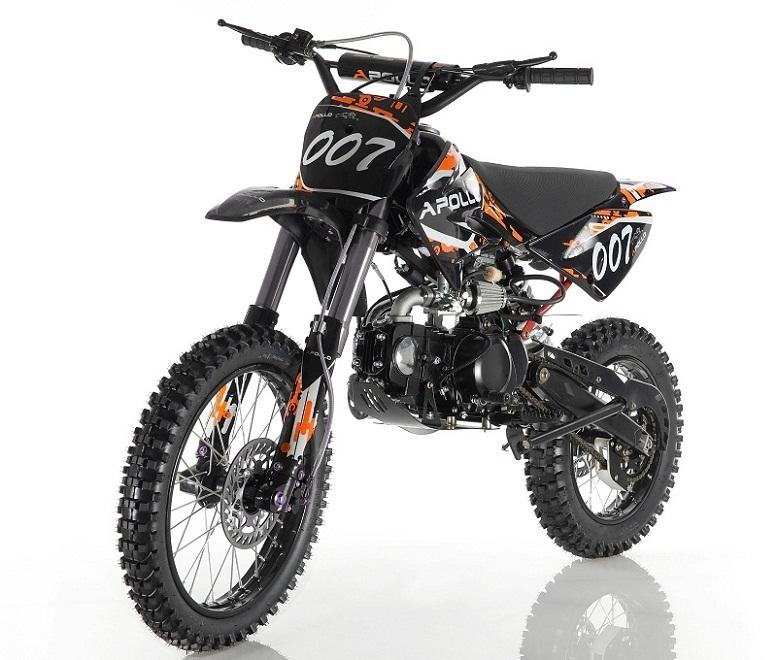APOLLO DB-007 125cc Manual Clutch 4 Gears Dirt Bike - TXPowersports com