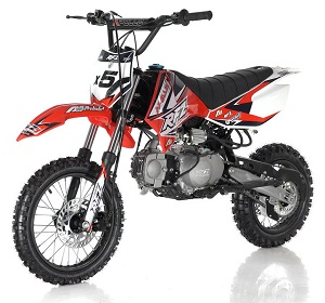 APOLLO DB-X5 125cc (Twin-Spare Tubular Frame) MANUAL SHIFT Dirt Bike, 4 stroke, Single Cylinder