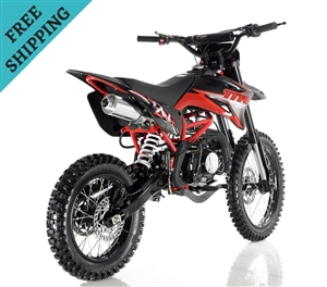APOLLO DB-X7 125cc (Twin-Spare Tubular Frame) MANUAL SHIFT Dirt Bike, 4 stroke, Single Cylinder