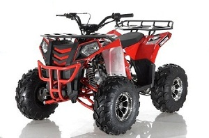 APOLLO COMMANDER DLX 125CC ATV w/Upgraded Chrome Rims, Auto With Reverse 4-Stroke, Single Cylinder, OHC Assembled