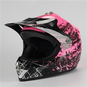 Coolster Motocross Full Face Helmet - Pink