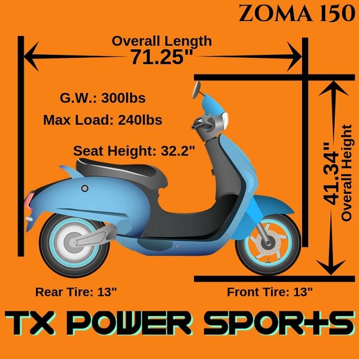 Vitacci ZUMA 150CC Scooter- TXPowersports com