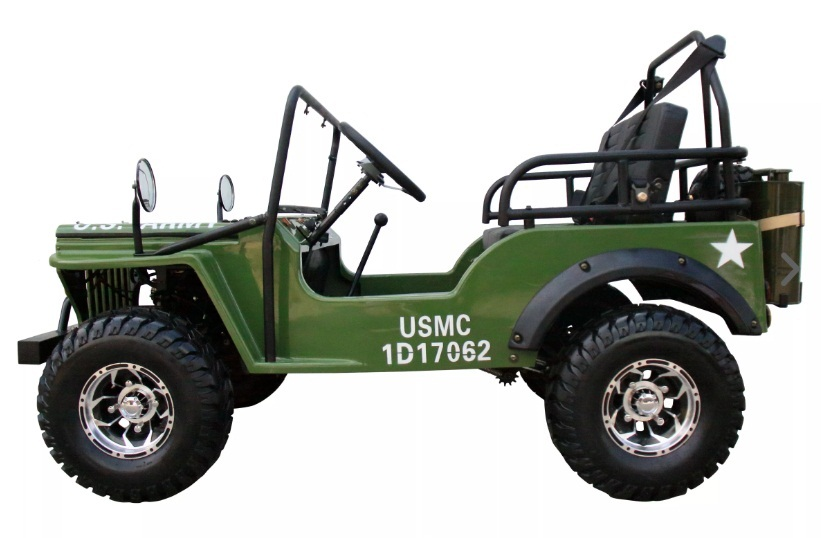 Gas Golf Cart 125cc Jeep Mini Truck ELITE Edition with 3-Sd ... Golf Carts Jeeps That Look Like on garden tractors that look like jeeps, trucks that look like jeeps, cars that look like jeeps, suvs that look like jeeps,