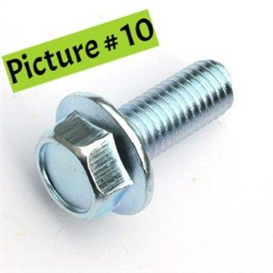 Hex Flange Bolt; M10x1.25