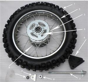 New Hawk 250 Rear tire