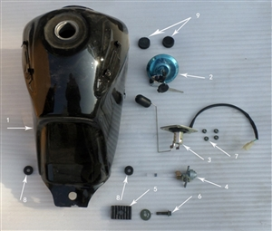 New Hawk 250 Gas cap with key