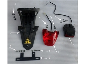 New Hawk 250 License Plate Bracket