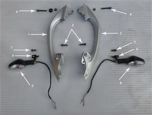 New Hawk 250 Bolts (Armrest-Frame)