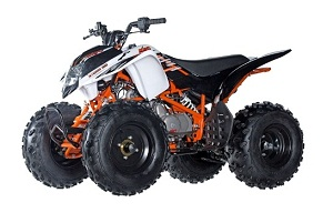 "ICE BEAR PREDATOR 125(PAK125-1) SEMI AUTOMATIC WITH REVERSE 8"" TIRE ATV"