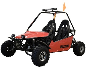 Massimo New GKM-200 Go Kart, 45 MPH, 4-Strock, Electric CDI, Automatic w/Reverse