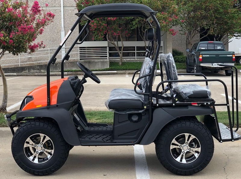 BLUE - Fully Loaded Cazador OUTFITTER 200 Golf Cart 4 Seater Street Legal  UTV