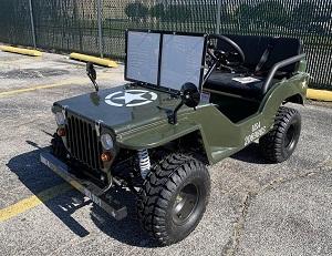Massimo Jeep Off-Road 125cc Mini Go-Kart/ Golf Cart - Disc Brakes