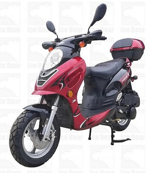 ICE BEAR ALDO (PMZ150-11) 150CC SCOOTER, AIR COOLED, AUTOMATIC, ELECTRIC AND KICK START