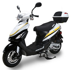 ROCKET PMZ50-4J, 50cc, 139QMB, YinXiang, Automatic, Electric / Kick