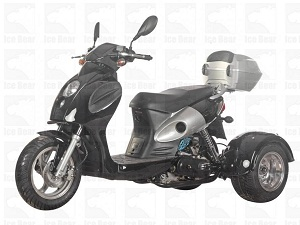 ICE BEAR BULLSEYE (PST50-14) 50CC SCOOTER, AUTOMATIC, ELECTRIC AND KICK START