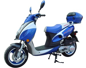 Roketa MC-20Y 150 Scooter, CVT 4-Stroke, Single Cylinder, Air Cooled, Eletric /kick Start