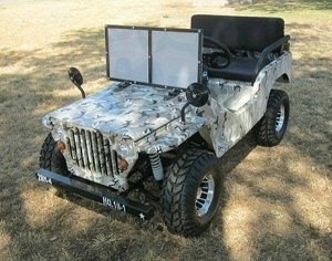 RPS Jeep Off-Road 125cc Mini Go-Kart With Chrome Rims