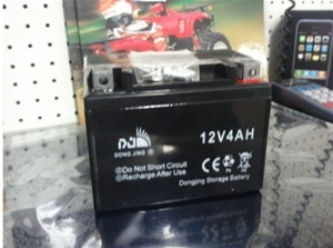 Small atv battery 12 volt 4 amps