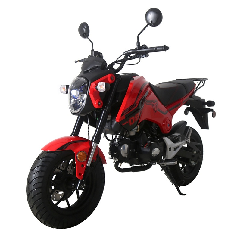 TaoTao New Arrival! HELL CAT 125cc Motorcycle with Manual Transmission,  Electric Start, 12'' Alloy Rim Wheels