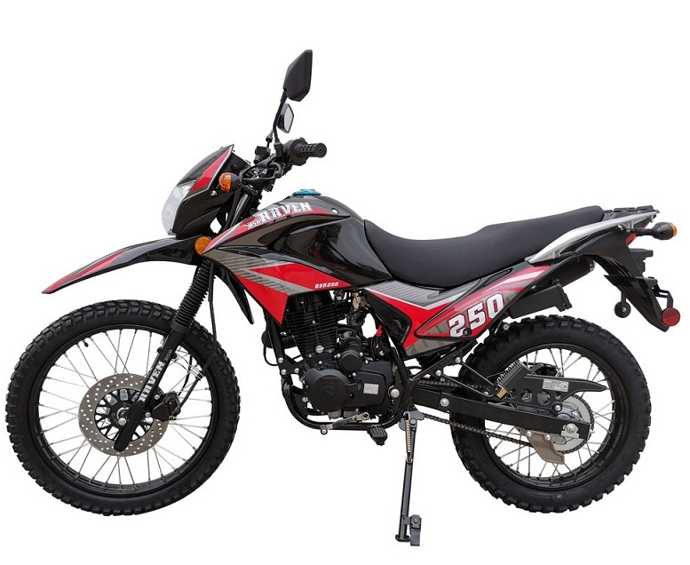 Vitacci Raven 250cc XL Dirt Bike, Air Cooling, 4-Stroke, Electric/Kick